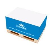 KOSTKA NA MINIPALETCE / bloczek z wyrywanymi karteczkami