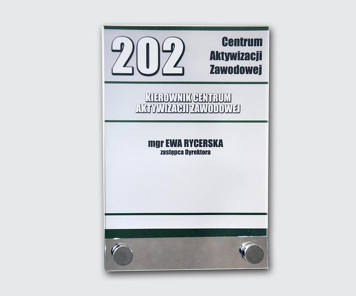 TABLICZKI PRZYDRZWIOWE / PUP Ostrzeszów